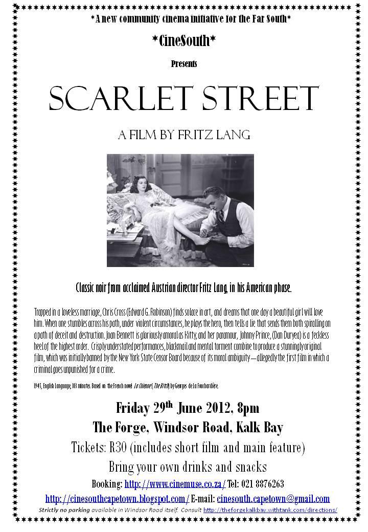 Scarlet Street Flier